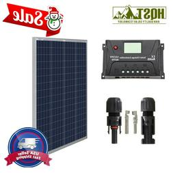 100W 12V Solar Panel Basic Kit 20A controller Off Grid Batte