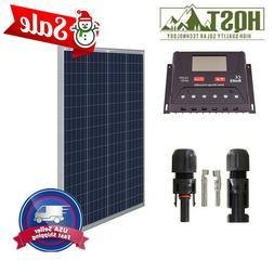100W 12V Solar Panel Basic Kit 30A controller Off Grid Batte