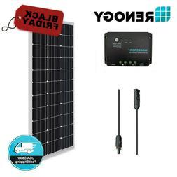 Renogy 100W 12V Solar Panel Bundle Kit 30A Controller Off Gr