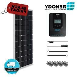 Renogy 100W 12V Solar Panel Starter Kit 100 Watt w/ Solar Ch