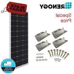 Renogy 100W 12V Solar Panel w/ Z Bracket Mouting 100W 12V Of