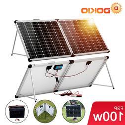 Dokio 100W 12V Mono Folding Solar Panel Suitcase Kit For Cam
