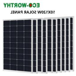 100W 200W 300W 400W 600W 800W 1K Watt Solar Panel 12/24V PV