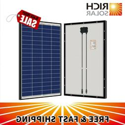 100W 200W  Polycrystalline Solar Panel 12 Volt Battery Charg