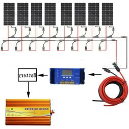 100W 12V PV Poly Solar Panel Bundle Kit with 15A Controller