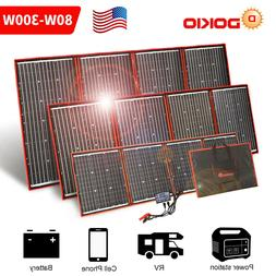 Dokio 100w 200w 300w Foldable Portable Solar Panel for RV/Ca
