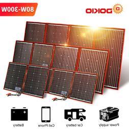 Dokio 100w 200w 300w Portable Solar Panel for Camping/RV/Pho