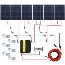 100W/200W/400W/600 Watt Solar Panel Kit MPPT Off Grid Batter