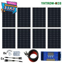100W 500W 1KW 2KW 3KW Watt Solar Panel kit 12V/24V/48V Batte