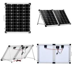 100W 50X2 12V Monocrystalline Foldable Solar Panel Adjustabl