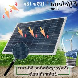 100W A-Class Solar Panel 18V Volt Poly Off Grid Battery Char
