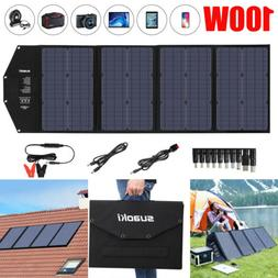 100w foldable solar panel charger for portable