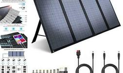 100W Foldable Solar Panel Charger for SUAOKI/Jackery/ROCKPAL