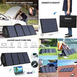 100W Foldable Solar Panel Charger Portable Generator Power S