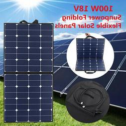 100W Monocrystalline Solar Panels Portable Folding Flexible