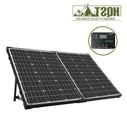 HQST 100W Monocrystalline Solar Suitcase w/ Renogy 10A PWM C