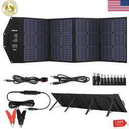 100W Solar Panel Foldable Battery Charger Dual USB Type-C DC