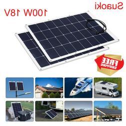 Suaoki 100W Solar Panel Power Bank 18V Flexible Off Grid Bat