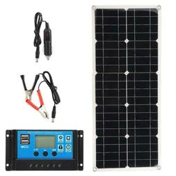 100W Solar Panel Set Foldable Charger Dual USB DC Battery Ca