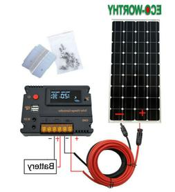120W 100W Solar Panel System Kit for 12V Battery Power Charg