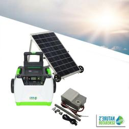 100W Solar Powered Portable Generator with Electric Start ba