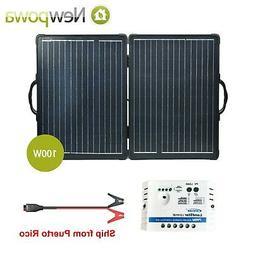 Newpowa 100W Ultra Lightweight Folding Panels with charge co