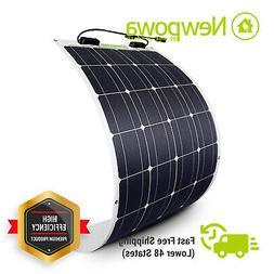 NewPowa 100W Watt 12V Semi-Flex Solar Panel Mono Module RV M