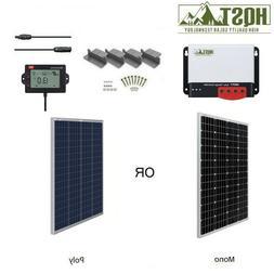 HQST 100W Watt 12V Solar Panel Starter Kit W/ 20A MPPT Charg
