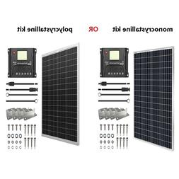 HQST 100W Watt 12V Solar Panel Starter Kit W/ 30A PWM Charge