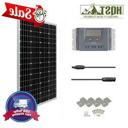 HQST 100W Watt 12V Solar Panel Starter Kit W/ 10A MPPT Charg