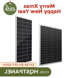 HQST 100W Watt 12V Volt Mono or Poly Solar Panel 100W PV Pow