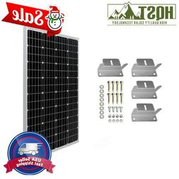 HQST 100W Watt 12V Volt Mono or Poly Solar Panel with Z Brac