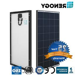 Renogy Black Frame 100W Solar Panel Monocrystalline 12V Off