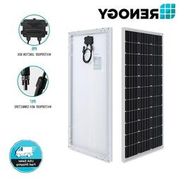 Renogy 100W Watts 12V Volt Monocrystalline Solar Panel High