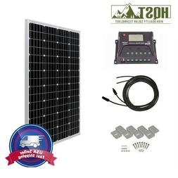 HQST 100W Watt Solar Panel Starter Kit 12V Volt Off Grid Bat