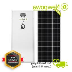 Newpowa 100W Watt 100 Watts Solar Panel 12V Monocrystalline