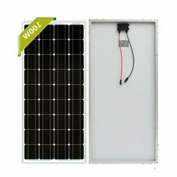 100W Watts Solar Panel 12 Volt Moncrystalline Off Grid Batte