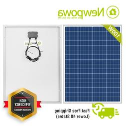 NewPowa 100W Watts Solar Panel 12V Volt Poly Off Grid Batter