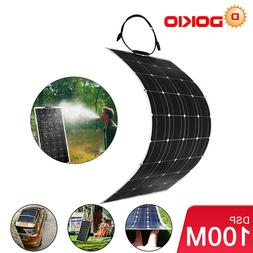 Dokio 100w 12v Monocrystalline Flexible Solar Panel For RV/B
