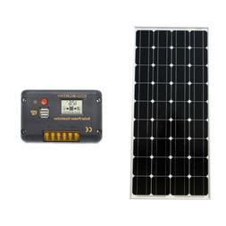 100Watt 12V Monocrystalline Solar Panel &20A Solar Charge Co