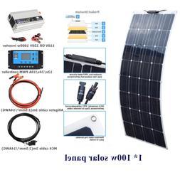 100Watt flexible Solar Panel Kit System+1000w inverter For H