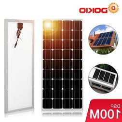 100Watts 18V Solar Panel  Monocrystalline  Silicon Size Top