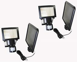 2 Pack 108 SMD LEDs Bright Outdoor Solar Motion Sensor Light