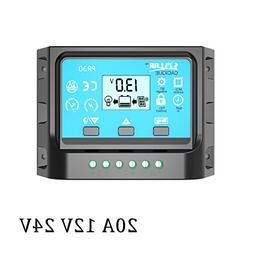 DPJ 10A 20A 30A 12V/24V LCD PWM Solar Panel 50W 100W 200W 30