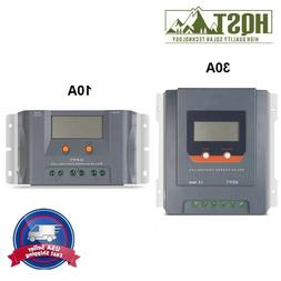 HQST 10A 30A Solar Charge Controller MPPT LCD Display 12V 24