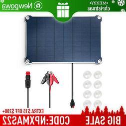 Newpowa 10W 12V Solar Battery Trickle Charging Kits Camping
