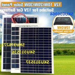 10W/20W/30W 12V Semi Flexible Solar Panel Battery Charger Co