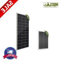 HQST 20W 100W Watt Mono Solar Panel 12V Volt Off Grid PV Pow