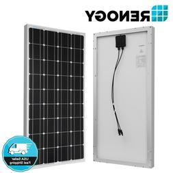 Renogy 10W 20W 50W 100W Watt Monocrystalline Solar Panel 12V