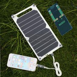 10W 5V Portable Solar USB Charger Power Charging Panel for S